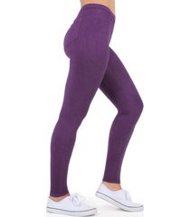 micro suede women's leggings