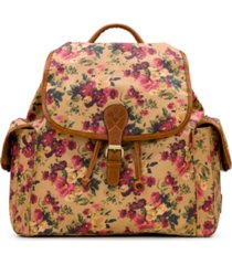 patricia nash prarie rose tavella flap backpack