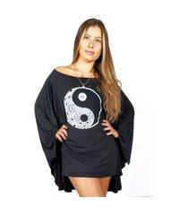 bata kaftan wss brasil yin yang feminina viscolycra