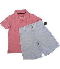 conjunto de shorts y camiseta tommy hilfiger- rosado años
