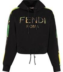 fendi cropped hoodie
