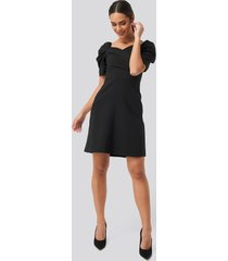 trendyol sleeves flywheel mini dress - black