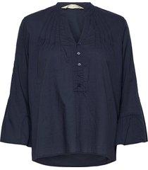 nadine blouse blouse lange mouwen blauw odd molly