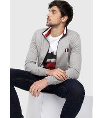 chaqueta gris-azul-rojo tommy hilfiger