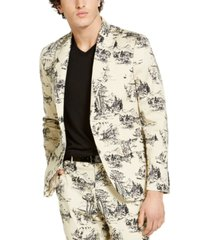 inc men's slim-fit nature drawing blazer, created for macy's