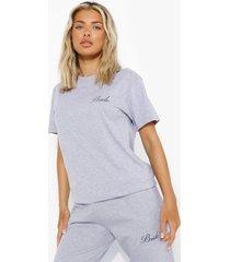 bride t-shirt, grey marl