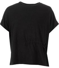 womens drawstring waist t-shirt