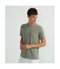 camiseta básica em algodão   request   cinza   m