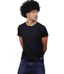 camiseta negra de algodón - domenica
