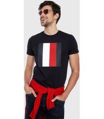 camiseta azul oscuro-rojo-blanco tommy hilfiger