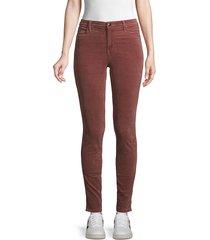 j brand women's maria high-rise velvet skinny jeans - warm sable - size 24 (0)
