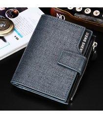 billetera super- billetera informal para hombres-azul