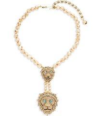 double lion statement necklace