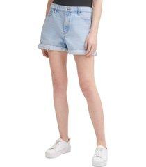 calvin klein jeans ripped denim mom shorts