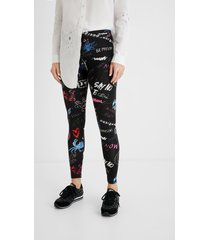 arty long leggings - black - xl