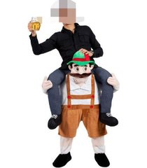 carry me bavarian beer guy ride on halloween mascot new fancy dress costume gift