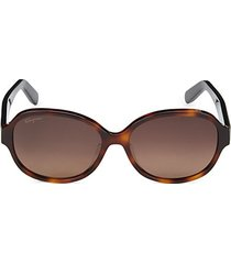 57mm oval sunglasses
