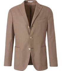 straight wool knit blazer