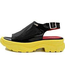 sandalia amarilla leblu  plataforma
