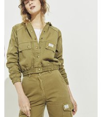 chaqueta verde portsaid nicole