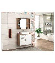 conjunto para banheiro mdf com gabinete 80cm lilies móveis