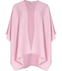 reiss tally - fringed poncho in blush, womens
