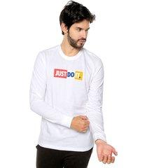 camiseta manga larga blanco-multicolor nike jdi ls tee