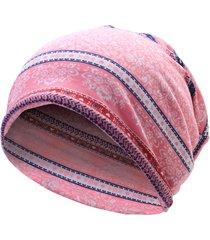 donna berretto beanies casual in cotone floreale berretto bonnet sciarpa