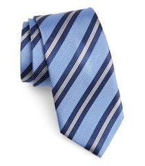 men's nordstrom stripe silk tie, size regular - blue