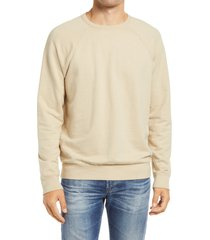 men's ag elba men's crewneck sweatshirt, size large - beige