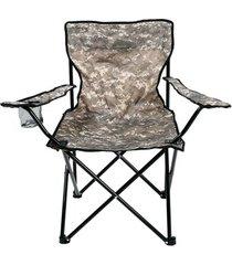 cadeira dobrável camping pesca porta copos camuflada bel lazer