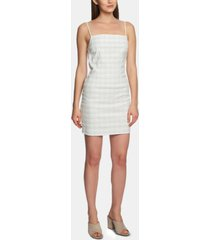 1.state mini-windowpane bodycon dress