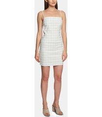 1.state mini-windowpane bodycon dress