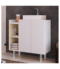 balcão banheiro criando mobilia gb09 gabinete 2 portas 1 prateleira