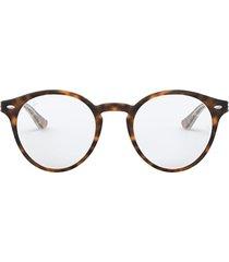 ray-ban ray-ban rx5376 top havana on transparent glasses