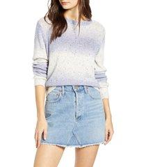 women's vero moda frida nep flecked ombre sweater, size x-large - purple