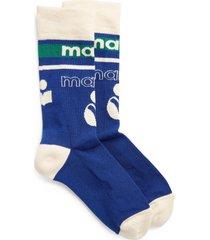 isabel marant silou logo socks in blue at nordstrom
