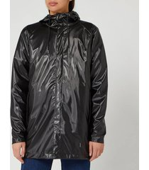 rains short coat - shiny black - s-m