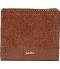 fossil logan small leather bifold rfid wallet