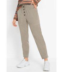high waist broek met knopen