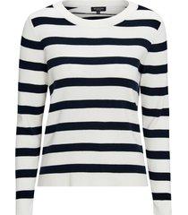 tröja slfalina stripe ls knit o-neck
