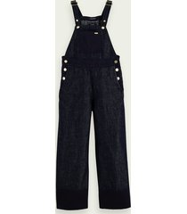 scotch & soda cotton linen-blend wide-leg jumpsuit