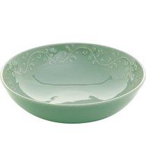 tigela em cerâmica wolff alanya 19cm rojemac verde