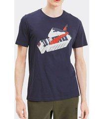 camiseta puma sneaker inspired marinho masculina