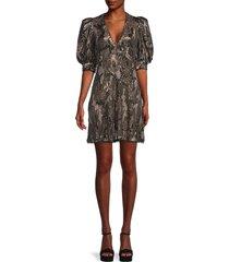 zadig & voltaire women's camo-print mini a-line dress - khaki - size xs