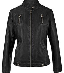 giacca in similpelle effetto lavato (nero) - john baner jeanswear