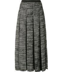 alcaçuz regia tweed skirt - grey