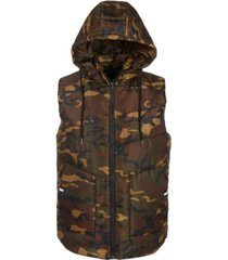 american stitch men's hooded puffer vest