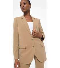 mk blazer boyfriend in crêpe - cammello scuro (marrone) - michael kors