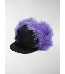 prada fluffy baseball cap